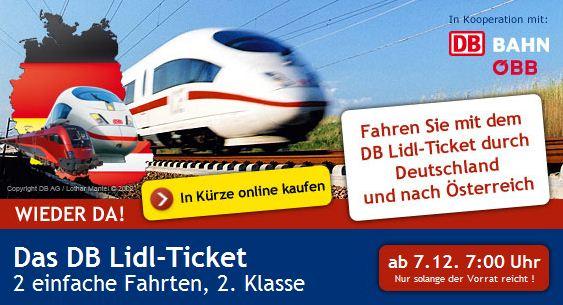 Letzte Chance: Lidl Bahntickets günstig ersteigern