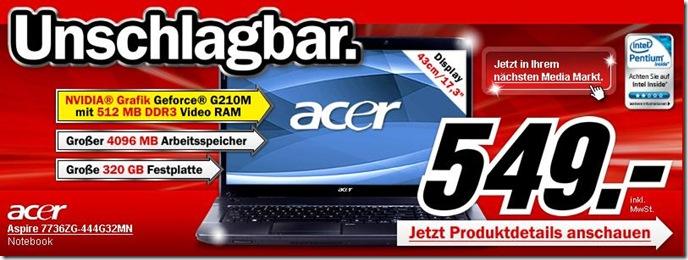 Acer Aspire 7736ZG-444G32MN