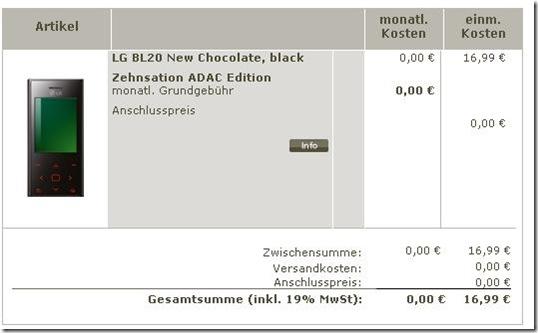 adaclg thumb Preisfehler: LG BL20 Chocolate für 16,99€