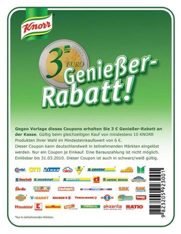 knorrrabatt thumb 3 Euro Knorr Gutschein – bis zu 50% sparen