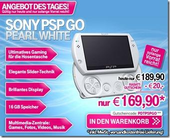 pspwhite thumb Nur heute: Sony PSP Go Pearl White für 169,90€