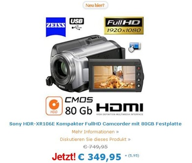 Sony HDR-XR106E
