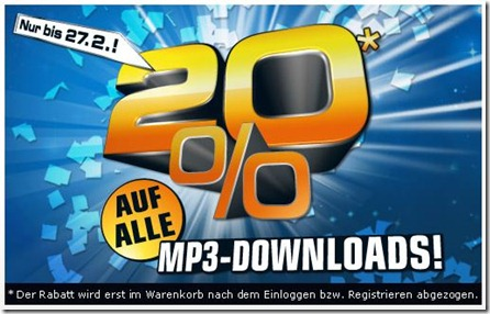 saturn20prozentmp3 thumb Saturn: 20% auf alle MP3 Downloads