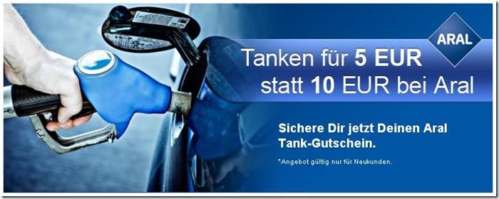 aral Tanken wie zu D Mark Zeiten   10€ Gutschein für 5€
