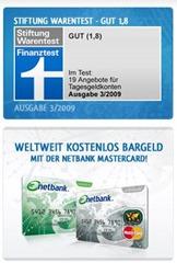 netbank thumb 60 Euro geschenkt für ein kostenloses Girokonto bei der Netbank