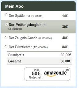 abo1 Sofatutor: 3 Monate für 30€, 50€ Amazon Gutschein erhalten   20€ Gewinn