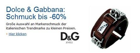 DG Dolce & Gabbana Schmuck bis zu 60% günstiger