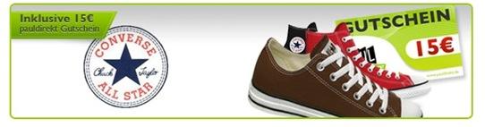 pauldirekt Converse Chucks für 45,80€ incl Versand + 15€ Gutschein für pauldirekt