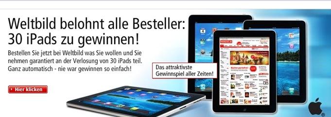 weltbild Weltbild.de verlost 30 iPads unter allen Bestellern