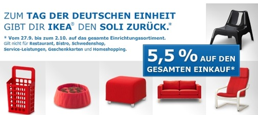 ikea Bis zum 02.10.2010 gibt es 5,5% bei IKEA