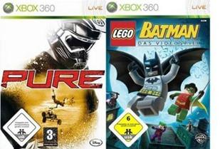 pure Pure + Lego Batman für die Xbox360 zum Preis von 4,95 Euro incl. Versand