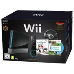 """wii Nintendo Wii """"Mario Kart Pak""""   Konsole inkl. Wii Sports, Mario Kart Wii, Wii Lenkrad + Remote Plus Controller für 188,99 Euro"""