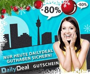 dailydealguthaben [KNALLER] Schnell sein: Bis 18Uhr 25€ Guthaben von Dailydeal für 15€ (Neukunden 12 Euro)