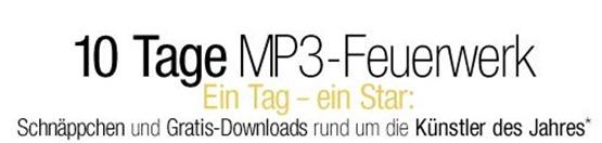 mp3feuerwerk Amazon: 10 Tage je eine MP3 Gratis