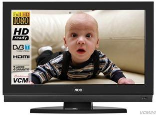 k k aoc frontansicht logo AOC LCD TV 32 Zoll / 80cm Full HD für 279 Euro incl. Versand