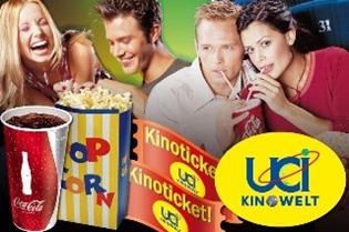 12974481366841 UCI: 2x Eintritt für alle Vorstellungen inklusive 2x Popcorn Menü mit 1 Liter Softdrink ab 18,80 Euro