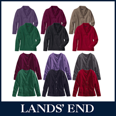 image123 LANDS END Damen Pullover oder Cardigan Fleece für 12,99 Euro