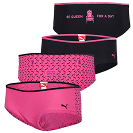 """image53 PUMA 2er Pack Hipster Panty """"BE QUEEN FOR A DAY"""" für 19,99 Euro"""
