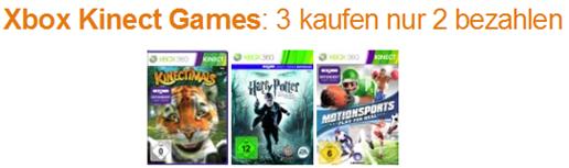 xbox Xbox Kinect Games: 3 kaufen nur 2 bezahlen