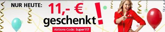 super117 Neckermann: Zum Rosenmontag einen 11 Euro Gutschein   Mindestbestellwert 25 Euro