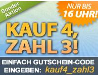image336 Dailydeal: Von 11 16 Uhr   4 Gutschein kaufen, 3 bezahlen