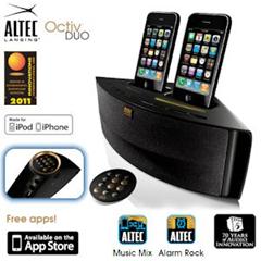 image314 Altec Lansing Octiv Dual Speaker Dock für iPhone & iPod für 40,90 Euro