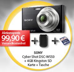 image105 Sony DSC W550 Digitalkamera+ 4GB Sd Karte + Tasche für 99,90 Euro