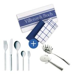 image131 Michelino Besteckset 30tlg. inkl. Villeroy & Boch Zubehör für 66 Euro