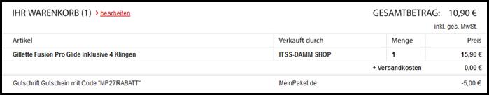 image thumb12 [Ausverkauft] Gillette Fusion Pro Glide inklusive 4 Klingen für 13,90 Euro (mit Glück 10,90 Euro)