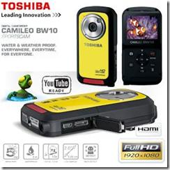 image306 Toshiba Camileo BW10 Full HD Camcorder (5 Megapixel, 10 fach digital Zoom, 5,1 cm (2 Zoll) Display, Wasserfest bis zu 2m, Bildstabilisator) für 75,90 Euro
