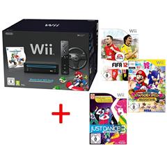 image33 Wii Pack Mario Kart + 3 Spiele (Fifa 12+Just Dance 3+Olympische Spiele in London) für 181,15 Euro