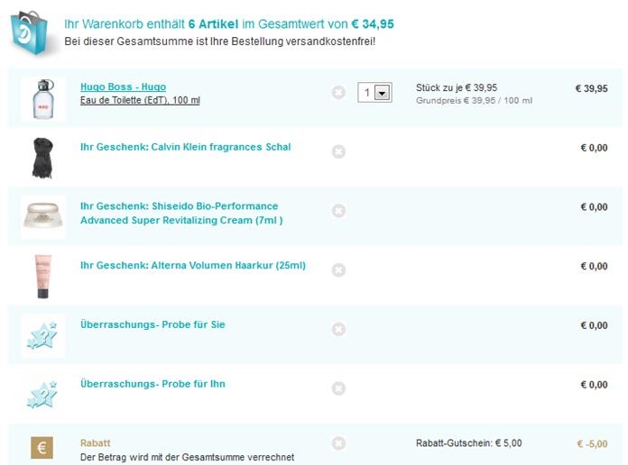 image thumb13 Hugo Boss–Hugo (Eau de Toilette (EdT) 100ml) + Calvin Klein Schal + 4 weitere Artikel für 34,95 Euro
