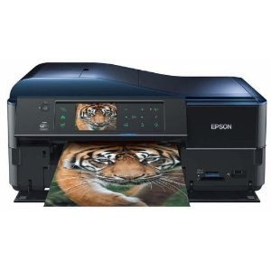 Epson Stylus PX830FWD Multifunktionsgerät (WiFi, Ethernet, Drucker, Scanner, Kopierer, Fax, Duplex) schwarz