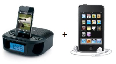 ipodaktion Ipod Touch 32GB + Memorex Radio mit Apple iPod Dock für 271,95€