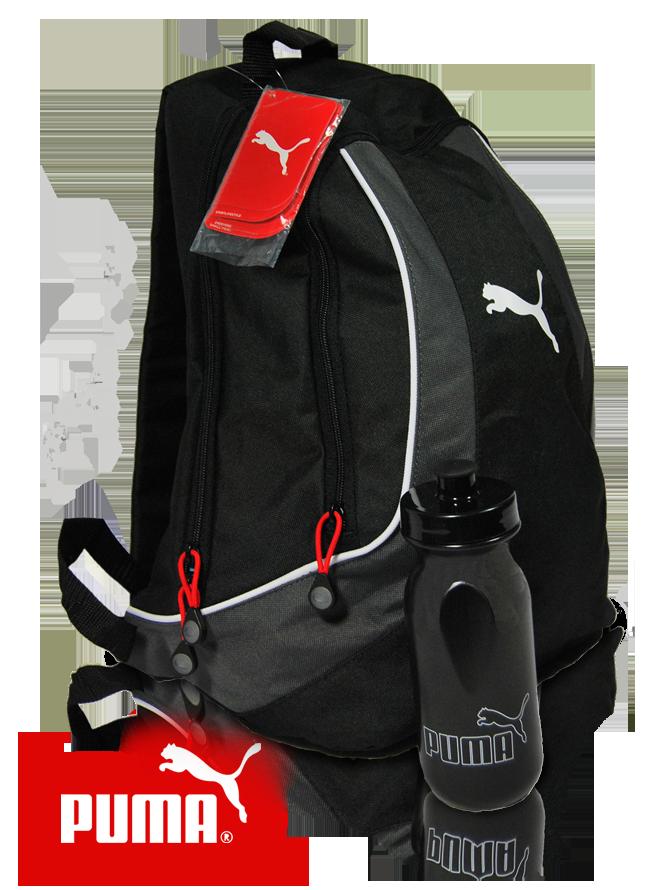 puma rucksack gespiegelt Original Puma Sweeny Rucksack II mit Sport Trinkflasche für 15,99€