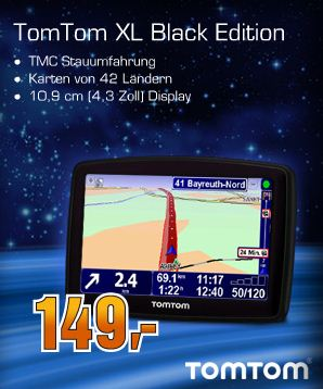 saturn tomtom black edition europe f r 149. Black Bedroom Furniture Sets. Home Design Ideas