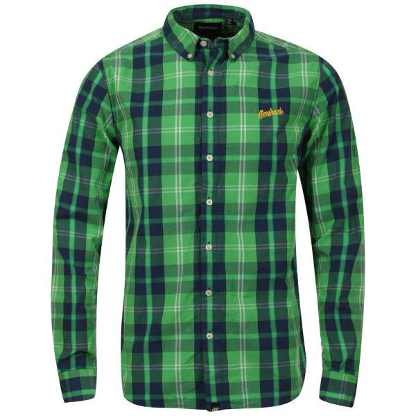 Boxfresh Men's Caecus Long Sleeved Shirt - Classic Green: Image 01