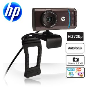 6919 y9 hi 13418243981 HP HD 3110 720P Autofokus Widescreen Webcam für 25,90€