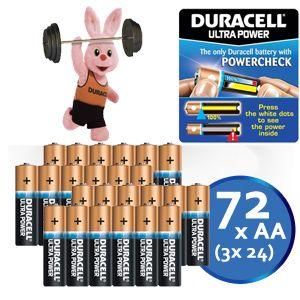 72 Stück Duracell Ultra Power AA Batterien – die beste Lösung für Geräte mit hohem Energiebedarf!