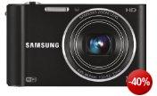 Samsung ST200F Smart-Digitalkamera (16 Megapixel, 10-fach opt. Zoom, 7,6 cm (3 Zoll) Display, bildstabilisiert, Wifi, nur micro-SD) schwarz