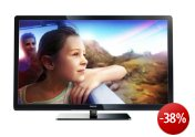 Philips 47PFL3007H/12 119 cm (47 Zoll) LCD-Fernseher, Energieeffizienzklasse B (Full-HD, 100Hz PMR, DVB-T/C, CI+) schwarz
