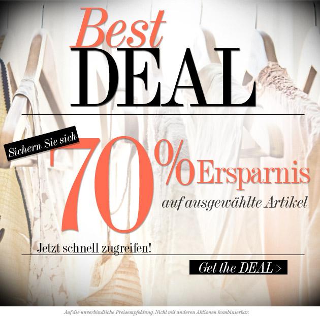 best deal 70 Dress for less: 70% Rabatt auf die unverbindliche Preisempfehlung
