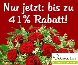 image152 Rosen Special – bis zu 41% Rabatt im Valentins Shop und mit Trick 20% extra Rabatt, so z.B. 20 rote Rosen für 22,58€ inkl. Versand