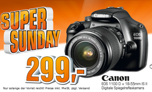 image200 Saturn Super Sunday: Canon Eos 1100D + 18 55mm Kit 305,99€