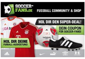 image57 60€ Soccerfans.de Gutschein für 24,99€, so z.B. die neuen Bundesligatrikots günstig kaufen