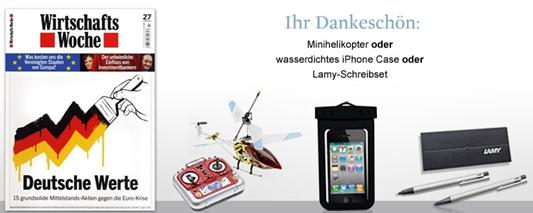 image67 5x WirtschaftsWoche + z.B. Lamy Schreibset für 15,75€