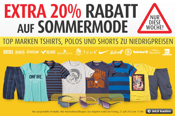 summer promo de1 MandMdirect: 20% Extrarabatt auf Sommermode