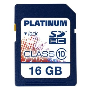 Platinum 16 GB Class 10 SDHC Speicherkarte