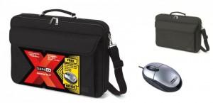 Dicota BaseXX Bundle NotebookCase 39,11 bis 41,66cm (15,4-16.4 ) + opt. USB Maus
