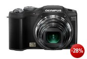 Olympus SZ-31MR Digitalkamera (16 Megapixel, 24-fach opt. Zoom, 7,6 cm (3 Zoll) Display, 3D Fotos , bildstabilisiert) schwarz